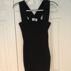 LF Seek Bodycon Black dress